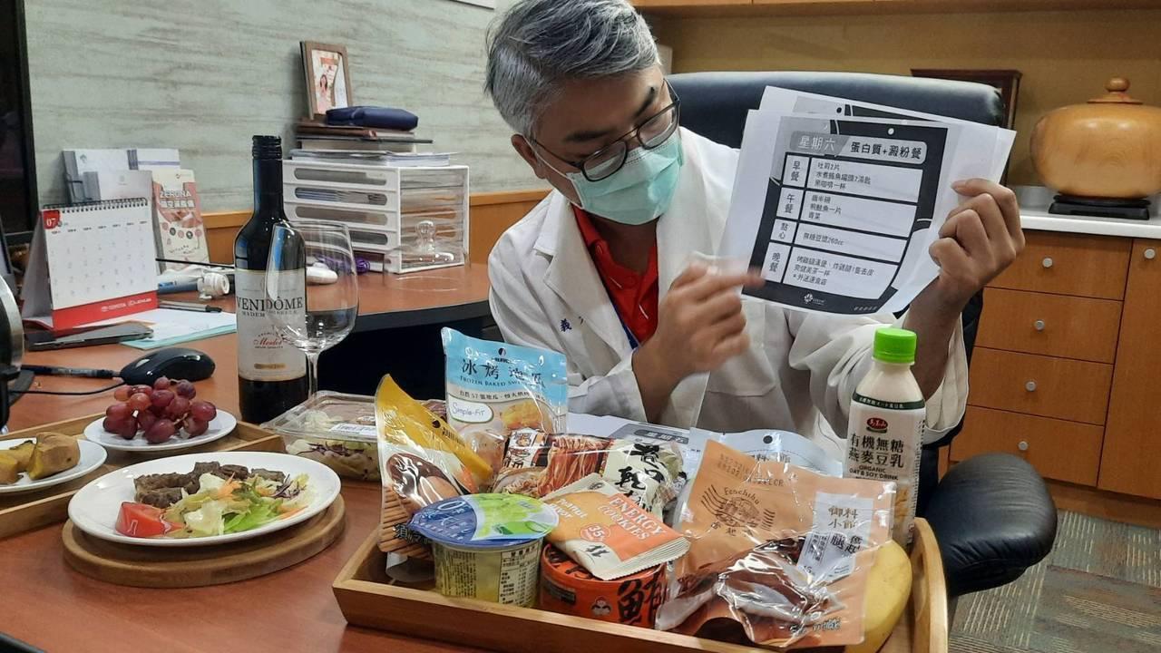 義大大昌醫院纖體健康中心主任宋天洲設計一周健康減重菜單,建議民眾以蛋白質攝取足夠...