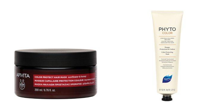 (左) APIVITA向日葵蜂蜜護色修護髮膜200ml/價格店洽:向日葵活性成分...