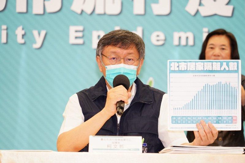 台北市長柯文哲表示,明天、後天凡設籍不在北市的85歲以上長者,可以致電所在地區公所民政課電話登記,自17日下午開始打。圖/北市府提供