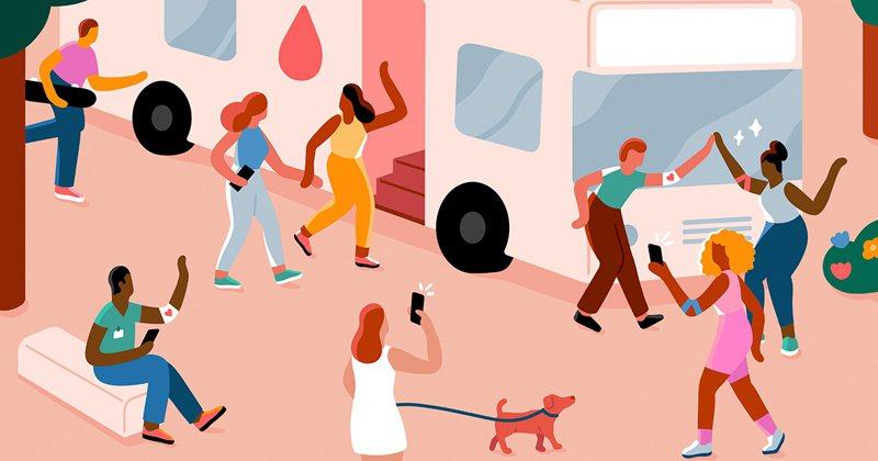 響應世界捐血人日,Facebook與台灣血液基金會合作,鼓勵民眾在「捐血情報站」註冊成為捐血者,幫助有需要的人。圖/Facebook提供