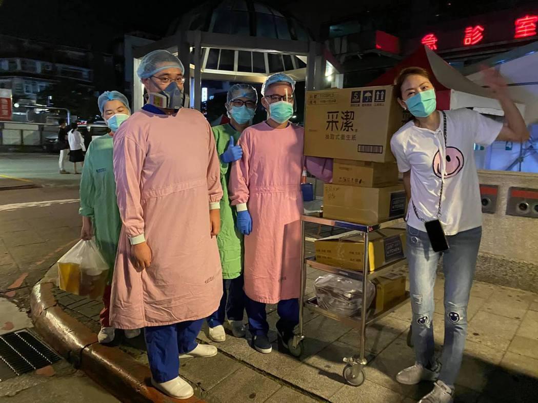 賈永婕捐食物給前線醫護人員。 圖/擷自賈永婕臉書