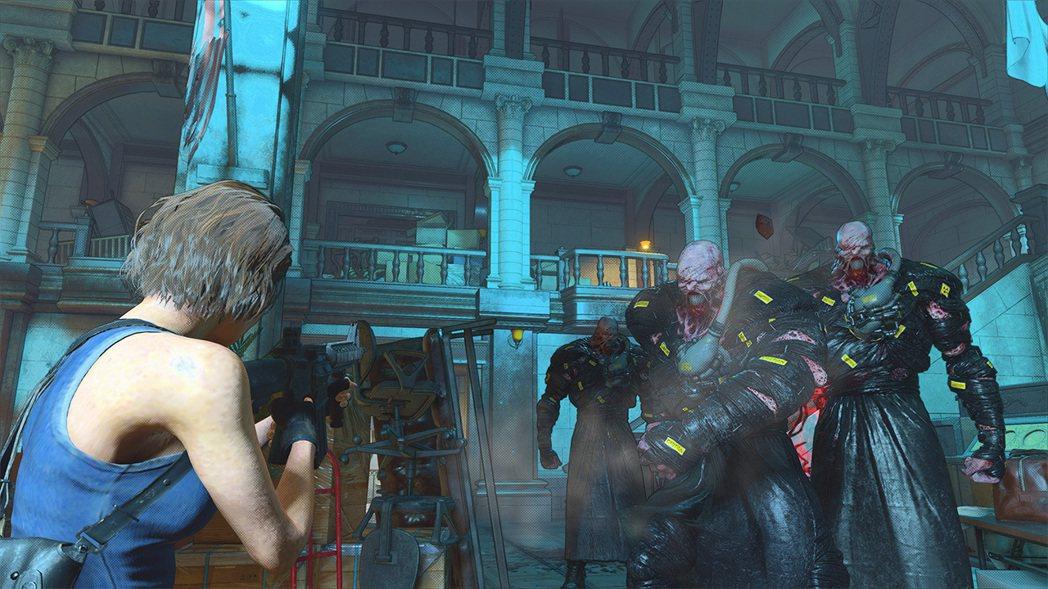 圖為《惡靈古堡:逆轉》遊戲畫面