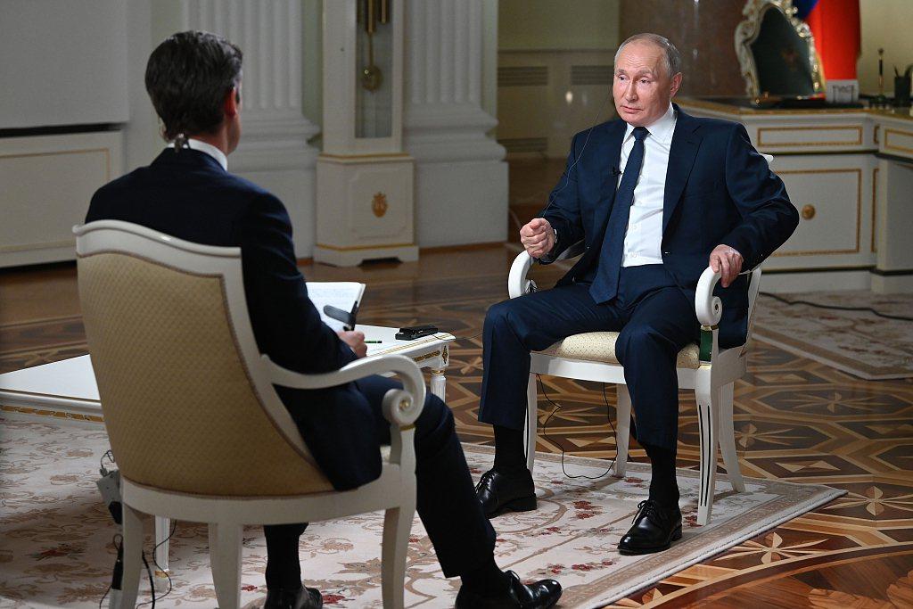 俄羅斯總統普亭接受美媒訪問。環球網