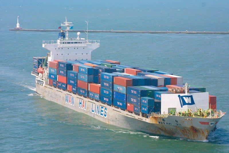 萬海貨櫃示意圖。圖/聯合報系資料照