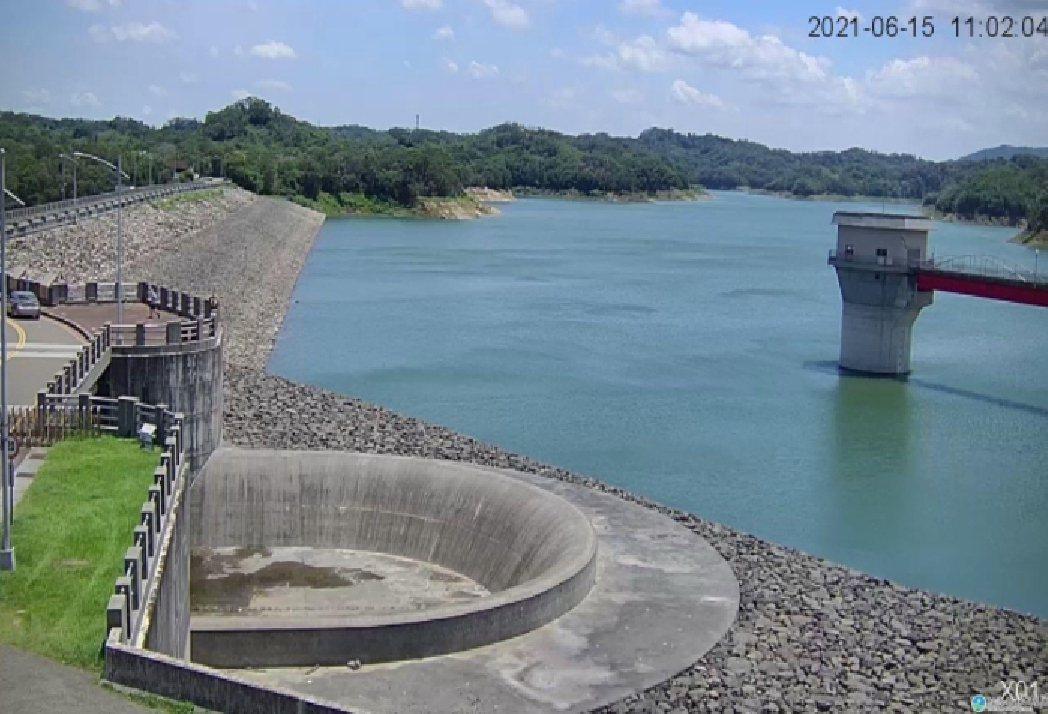 經濟部水利署網站寶二水庫6月15日即時影像。竹縣府/提供