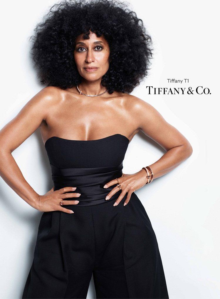 好萊塢女星特蕾西埃利斯羅斯成為Tiffany全球品牌代言人。圖/Tiffany提...