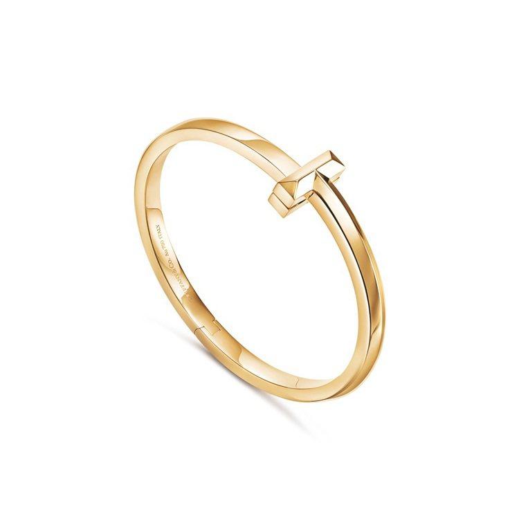Tiffany T1 18K金寬版手環,20萬5,000元。圖/Tiffany提...