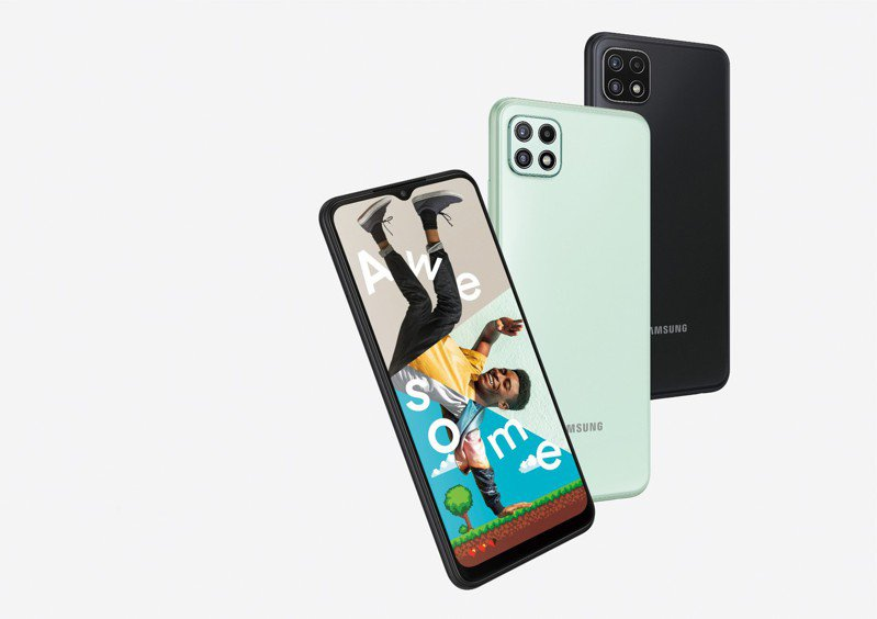 Galaxy A22 5G手機將在台上市。  台灣三星/提供