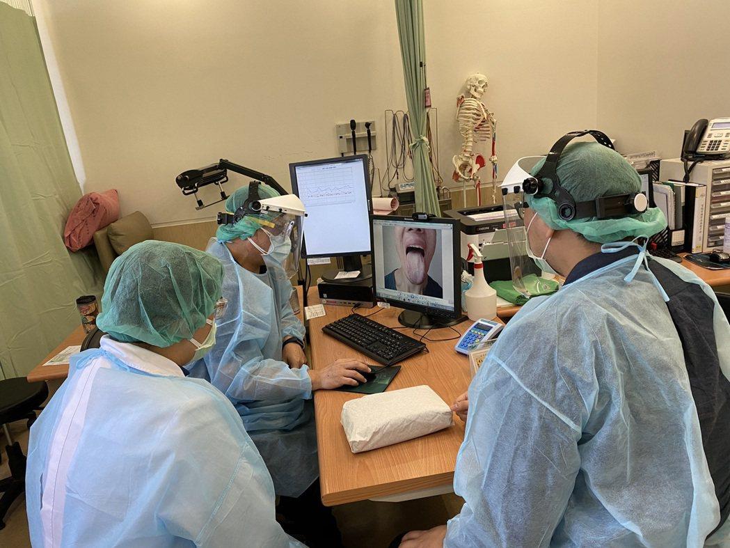 三峽恩主公醫院中醫利用病人舌診照片、電話問診與臨床數據資料來調配符合患者體質的中...