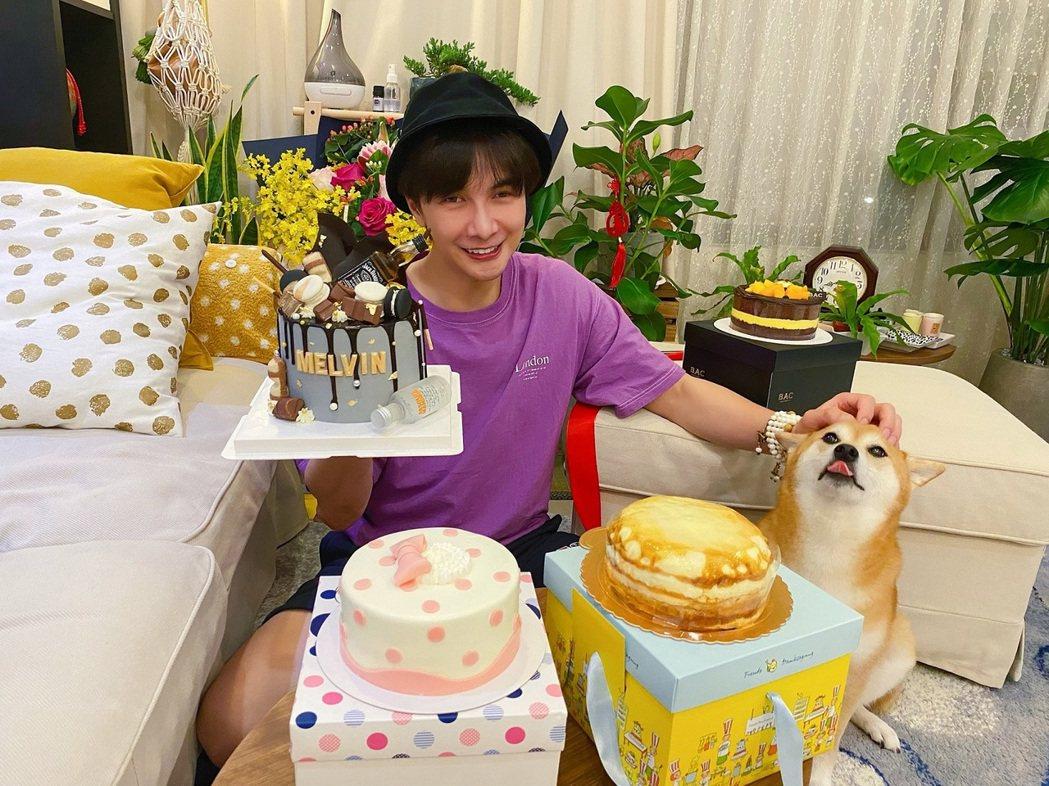 謝佳見生日適逢端午節,收到一堆蛋糕。圖/藝和創藝提供