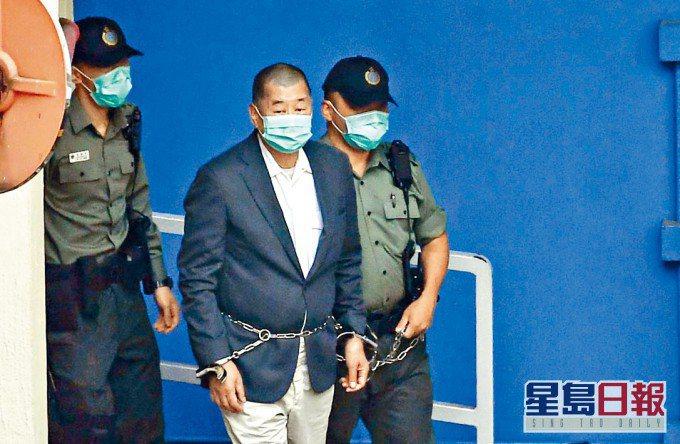 壹傳媒創辦人黎智英被指勾結外國勢力,案件今(15)日在西九龍裁判法院再訊。圖/星島日報