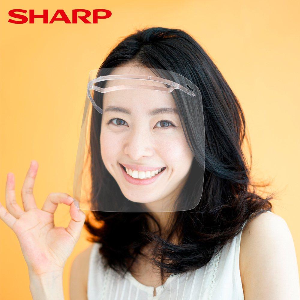 夏普日本奈米蛾眼科技防護面罩。夏普/提供