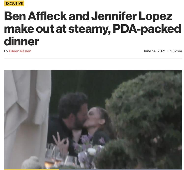 珍妮佛洛佩茲被拍到和舊愛班艾佛列克復合。圖/摘自pagesix.com