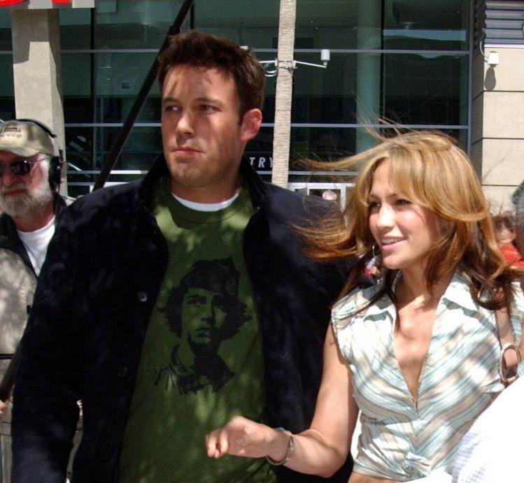 珍妮佛洛佩茲和舊愛班艾佛列克復合,圖為他們2003年的照片。圖/達志影像