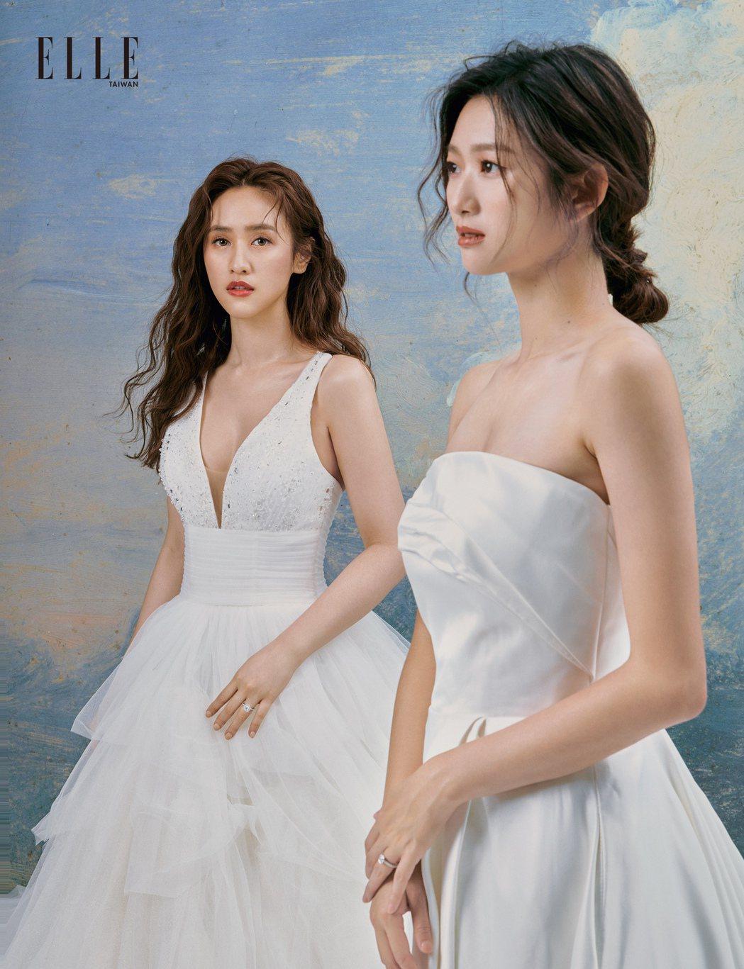 吳姍儒(左)、晏柔中年齡相近最先相熟。圖/《ELLE》國際中文版雜誌提供