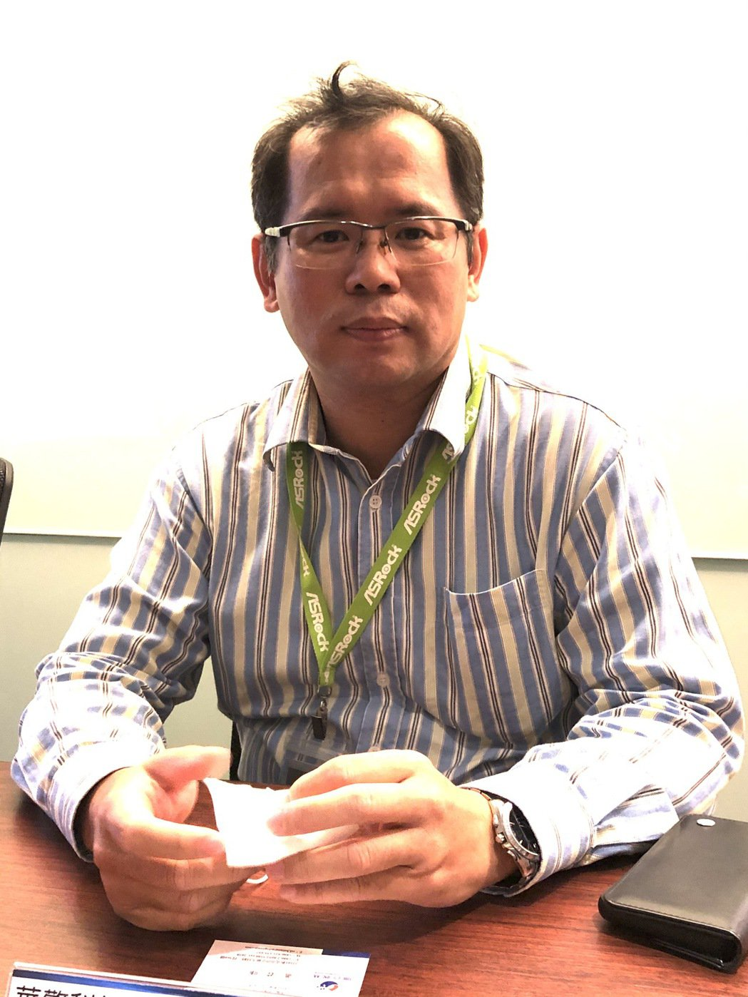 華擎總經理許隆倫。記者蕭君暉/攝影