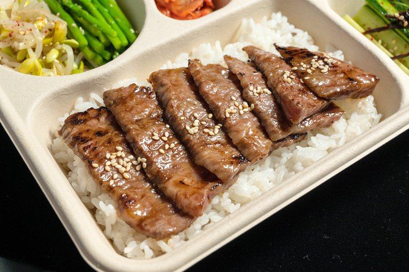 燒肉本氣所提供的日本和牛燒肉便當,每份售價888元。圖/俺達の肉屋提供