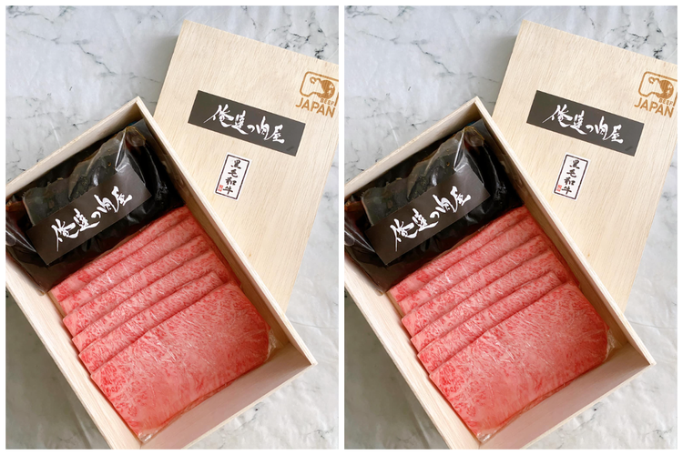 俺達の肉屋所推出的壽喜燒禮盒,內含400公克的日本A5和牛搭配壽喜燒醬汁,每份3...
