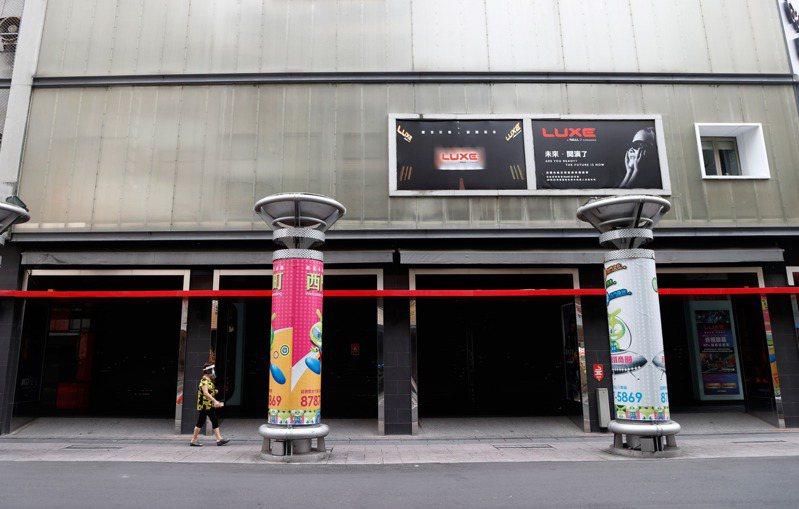 三級警戒期間,電影院全部暫停營業。 聯合報系資料照/記者鄭超文攝影
