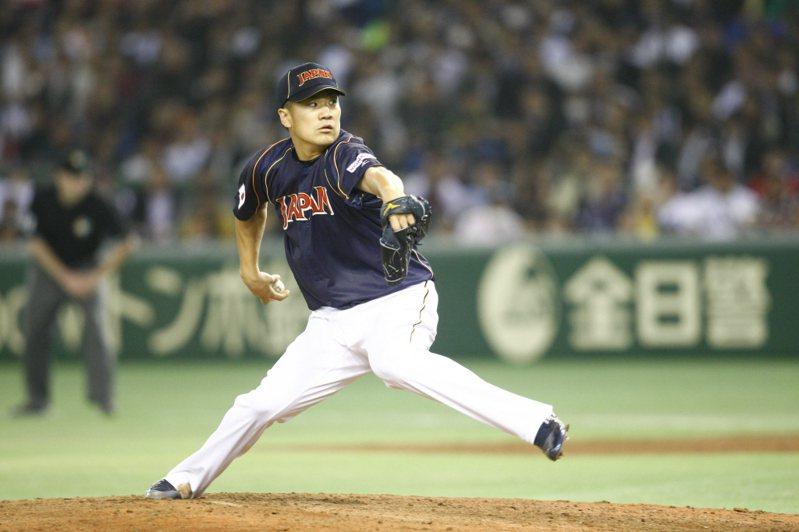 日本武士隊今天宣布24人名單,田中將大也在其中,預期將成頭號王牌。 聯合報系資料照