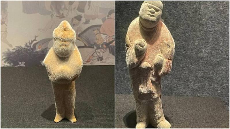 有中國網友表示,發現陝西乾陵博物館內展示的文物竟「長毛」,引發討論。 圖/微博