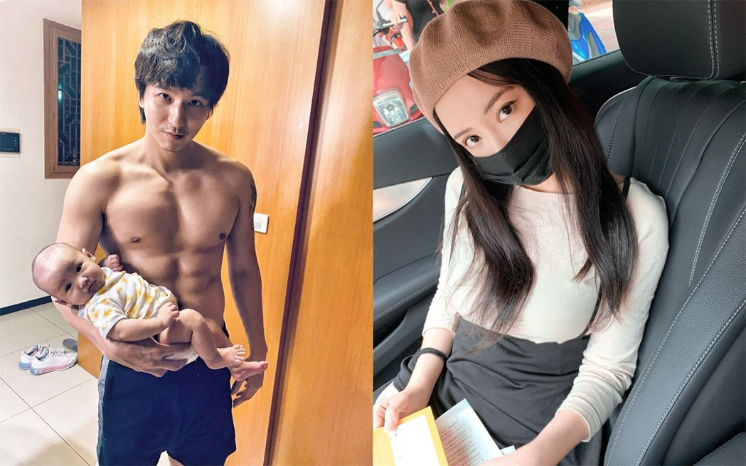 男星小煜(左)的老婆言言(右)是護理師。圖/擷自IG