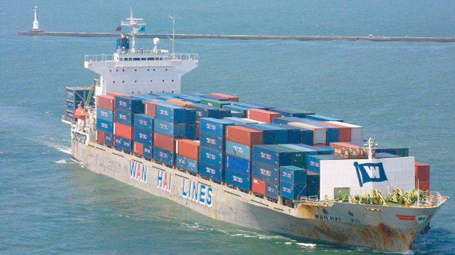 萬海貨櫃示意圖。報系資料照