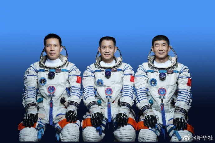 中國大陸神舟十二號載人太空船明發射,3太空人名單確定。新華社