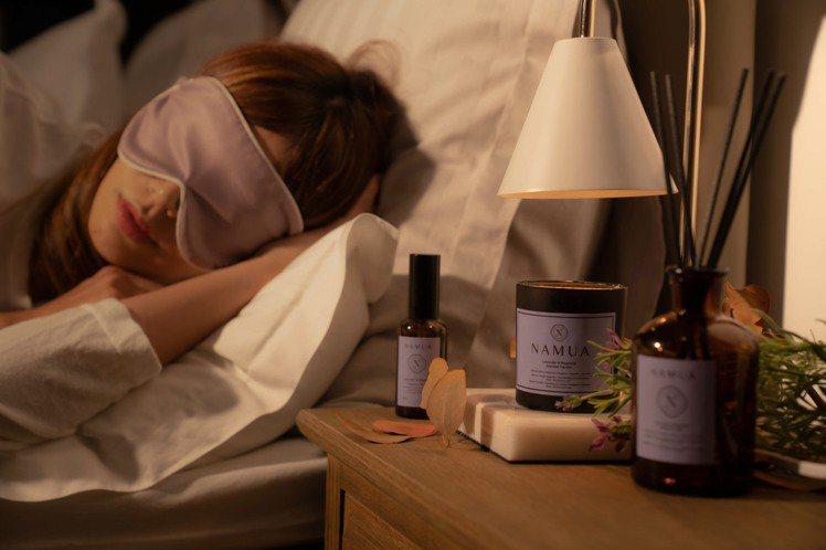 NAMUA那木瓦「薰衣草x木蘭」的香氣,適合睡前使用。圖/NAMUA那木瓦提供