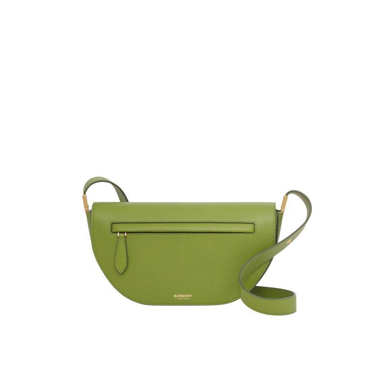 沼澤綠色小型皮革Olympia包,69,000元。圖/BURBERRY提供