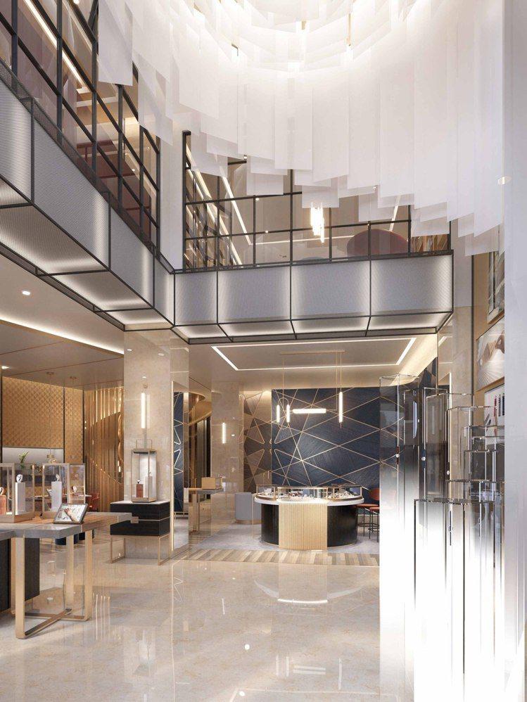 挑高、雙層樓的120多坪空間內,將有駐店製表師、個性化表帶訂製、品牌豐富史料檔案...