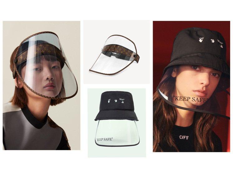 LV和Off-White都推出全臉式面罩。圖/LV提供、取自品牌官網