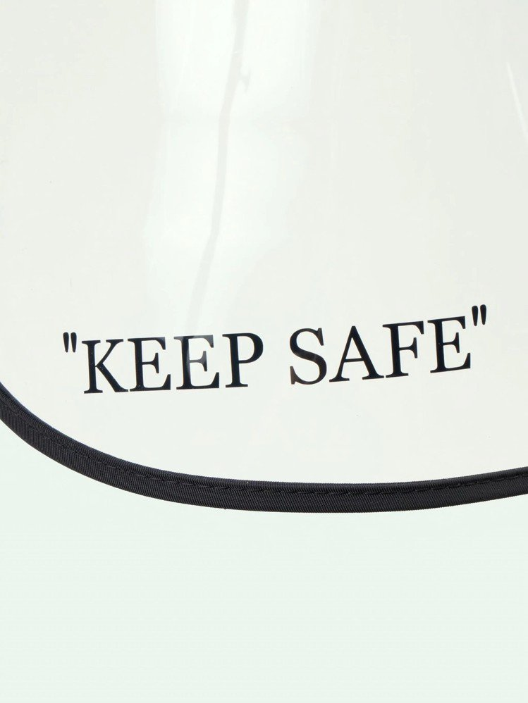 Off-White「KEEP SAFE」漁夫帽左下角還有保持安全的字樣。圖/取自...
