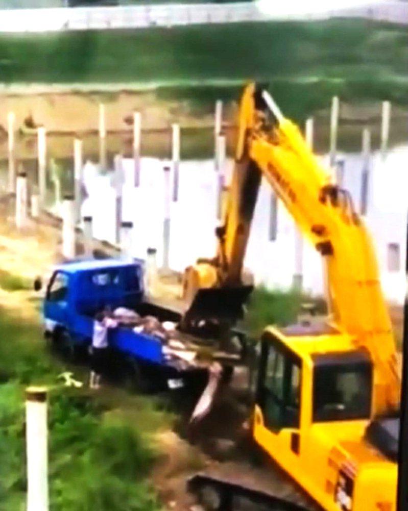 國立南大附中太陽能光電工地,疑偷倒廢棄物,校方說將會同環保局開挖協助調查,一定追究到底。圖/讀者提供
