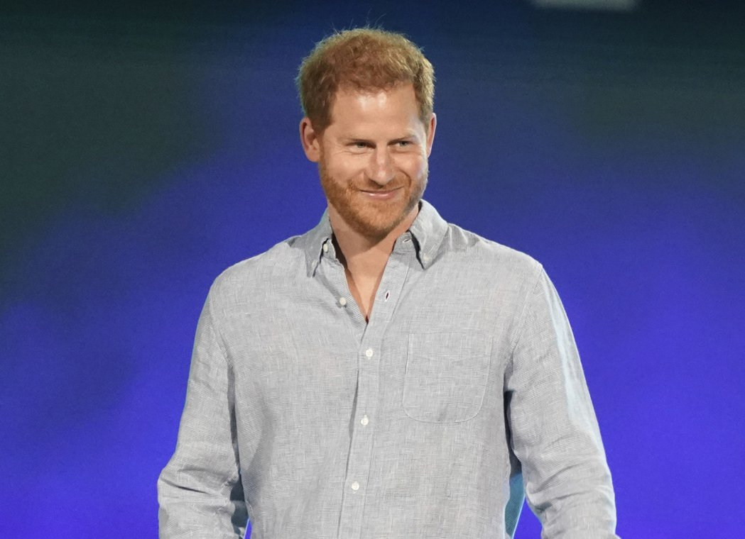 哈利王子傳出掉髮速度驚人。美聯社