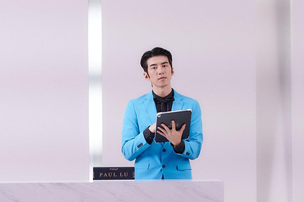傅孟柏在「愛的奧特萊斯」中飾演古怪業務PAUL。圖/LINE TV提供