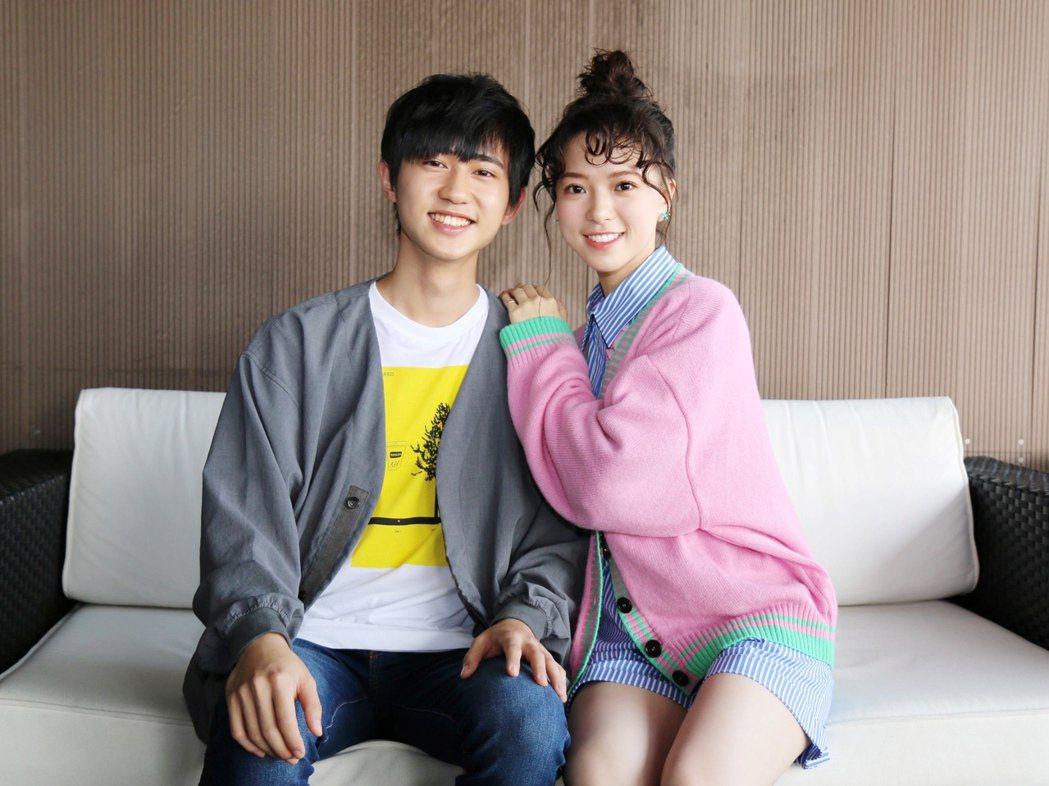 「愛的奧特萊斯」男女主角姜典(左)、項婕如首次合作。圖/LINE TV提供
