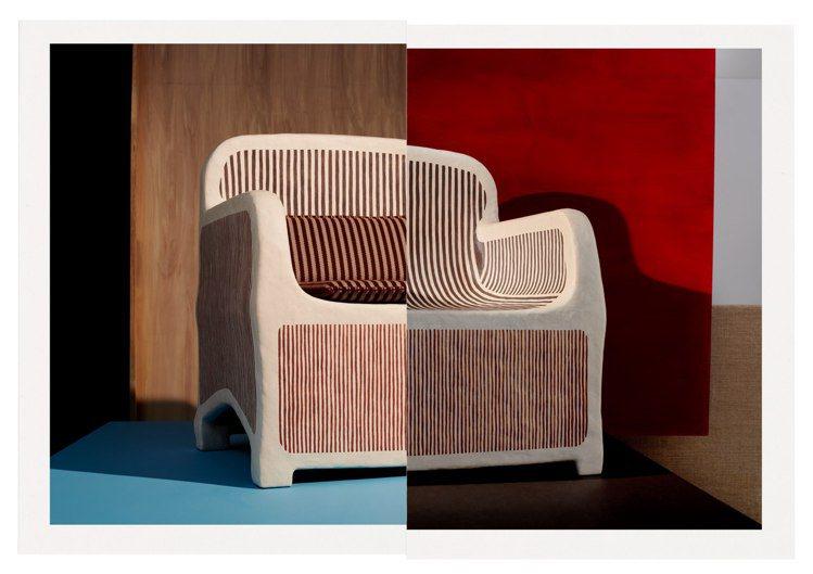 扶手椅以木材為骨架,外層塗覆含有纖維素微米纖維的獨特化合物,當中的70%成分為1...