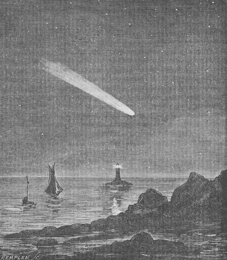 卡米伊弗拉馬利翁著「大眾天文學」第五篇「彗星」的版畫。圖/梵克雅寶提供
