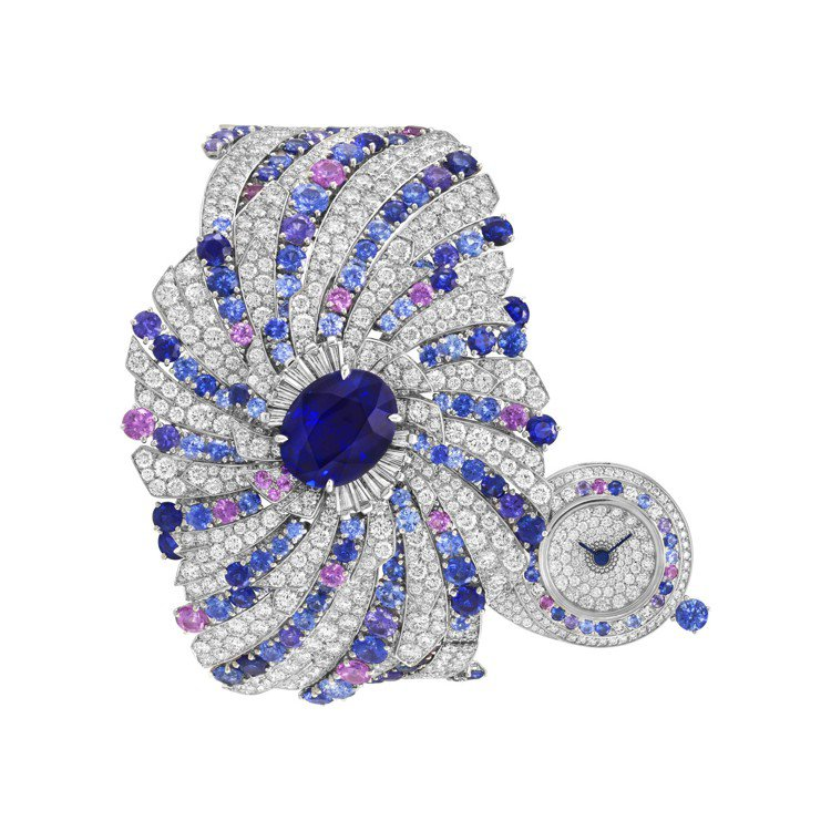 Galaxie Secrete高級珠寶腕表,白K金鑲嵌一顆重8.05克拉的橢圓形...