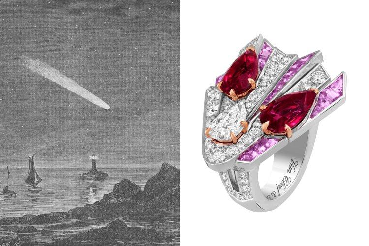 梵克雅寶發表全新Sous les étoiles系列頂級珠寶。圖/梵克雅寶提供