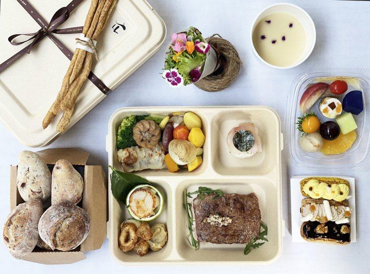 「龍眼木烤特級安格斯肋眼牛排」套餐。圖/鹽之華提供。