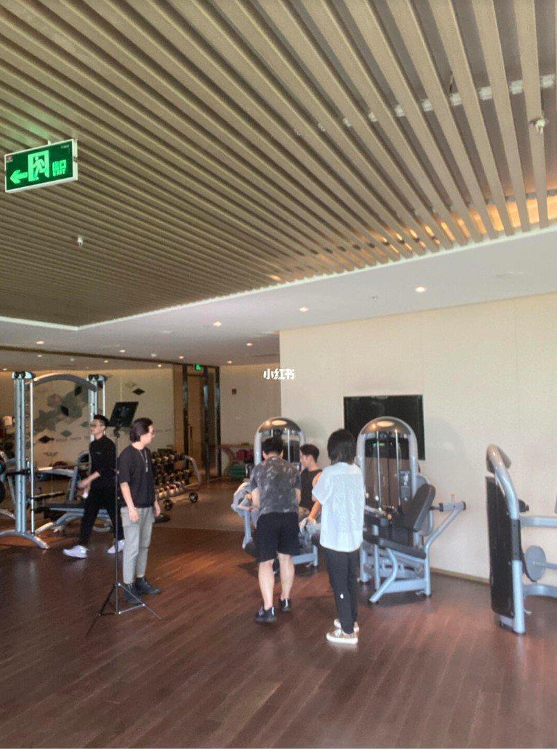 辰亦儒飯店健身房拍片怪叫遭投訴。 圖/擷自小紅書