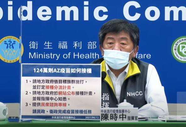 指揮中心今宣布,下午2時將由指揮官陳時中召開記者會,預料將聚焦長者接種AZ疫苗後...