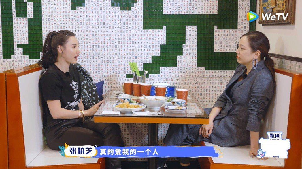 張柏芝談若有戀情不會再公開。 圖/擷自WeTV