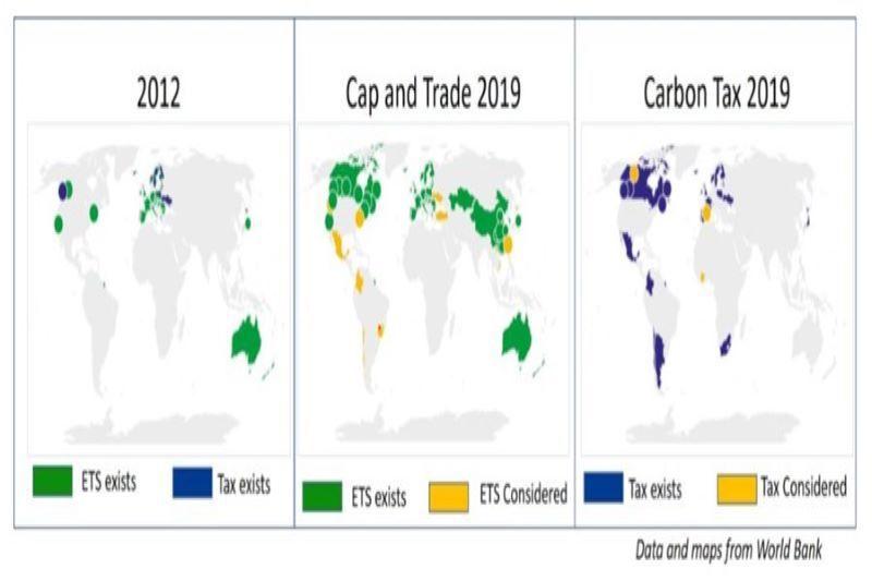 碳稅與碳交易,實施起來各有優缺點 圖/World Bank Group。