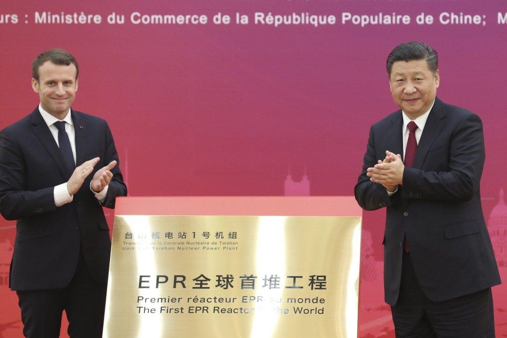 台山核電廠在2018年揭牌時,是由習近平與時任法國總統馬克宏一起揭牌,浩浩蕩蕩做足新聞,但近年已經鮮少看到中國高層領導人大張旗鼓地宣傳新核電計畫。 圖/中新社