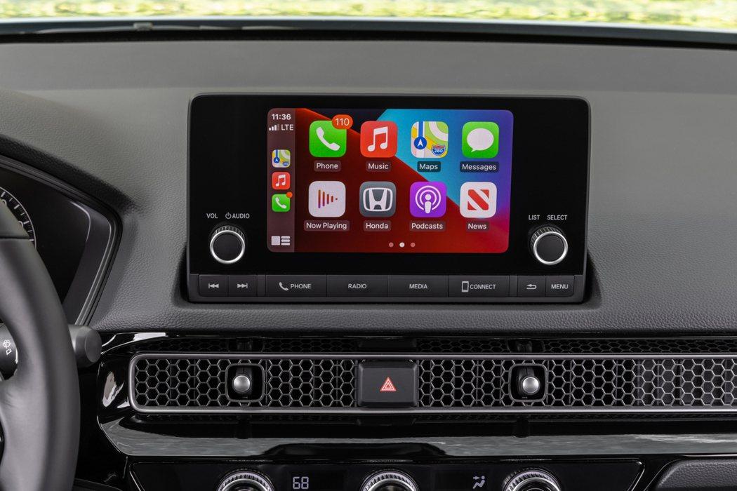除了頂級Touring款外,其餘車型都標配7吋中央顯示幕。 摘自Honda