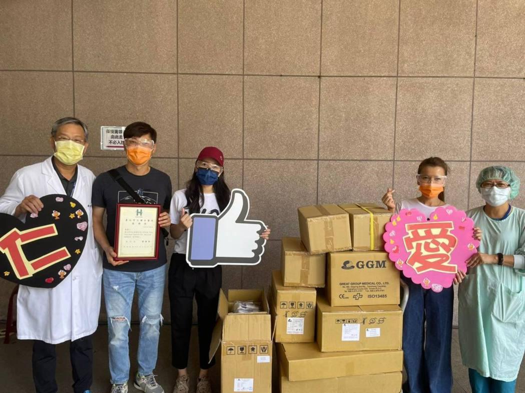 侯昌明、曾雅蘭夫妻也加入捐贈行列。圖/擷自臉書