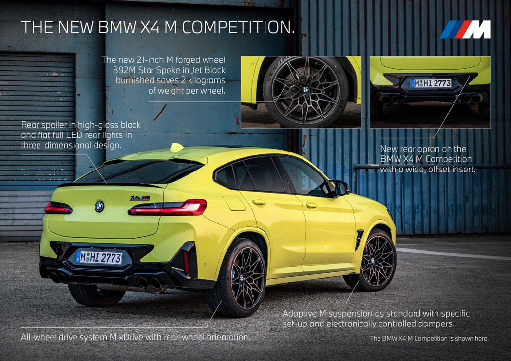 X4 M Competition車尾也有相當明顯的改動。 摘自BMW